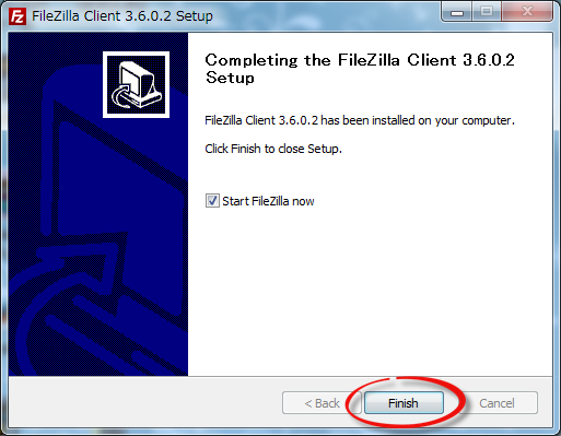 FileZillaのアップデート5