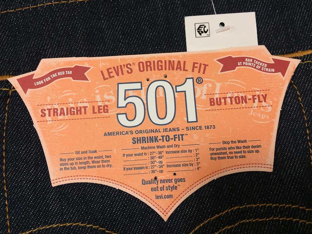リーバイス 501 オリジナル STF ラベルのイメージ2です