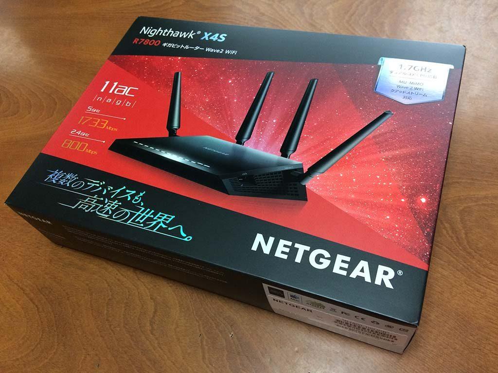NETGEAR R7800パッケージです