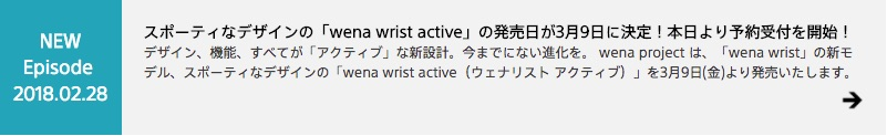 wena wrist active Episodesイメージです