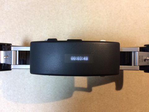 wena wrist active アクティビティーの継続時間表示です