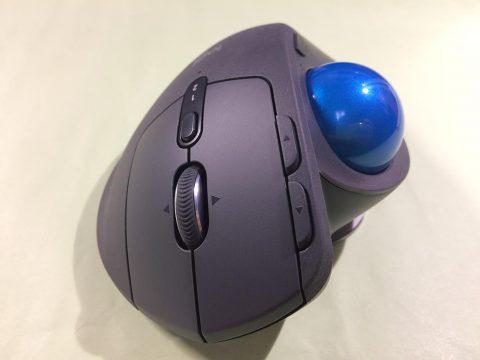 logicool MX ERGOにM570のボールを装着です