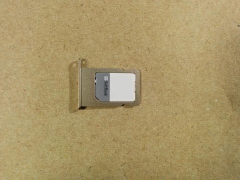 b-mobile 7GB プリペイド SIM SoftBank iPhone 5sのSIMです