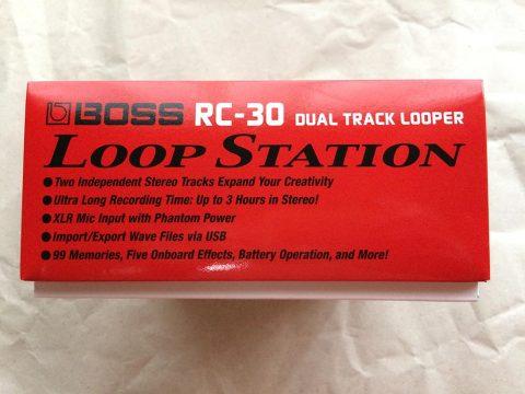 BOSS Loop Station RC-30 外箱側面です