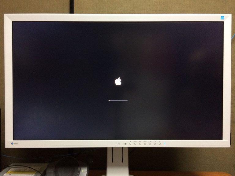 macOS Mojave(モハベ)インストール アップルマークです