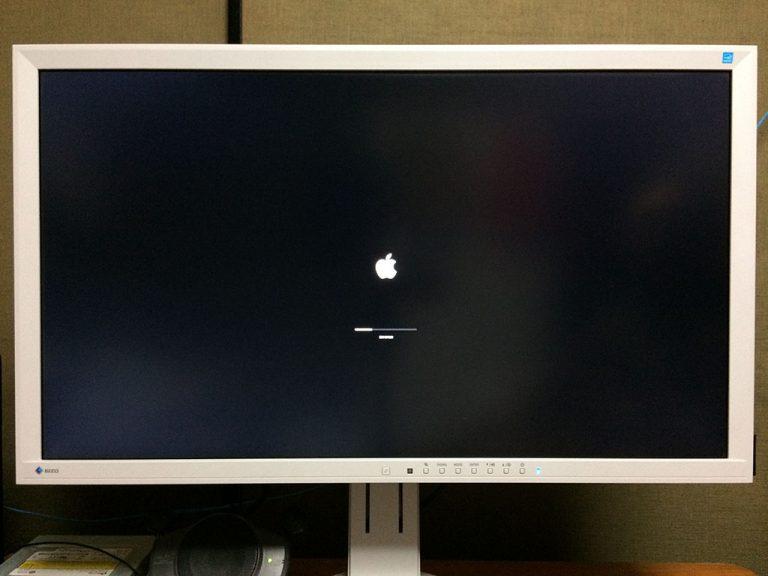 macOS Mojave(モハベ)インストール インストール中です