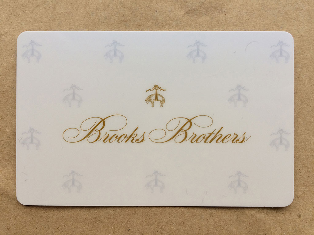 Brooks Brothers Card 券面表面です