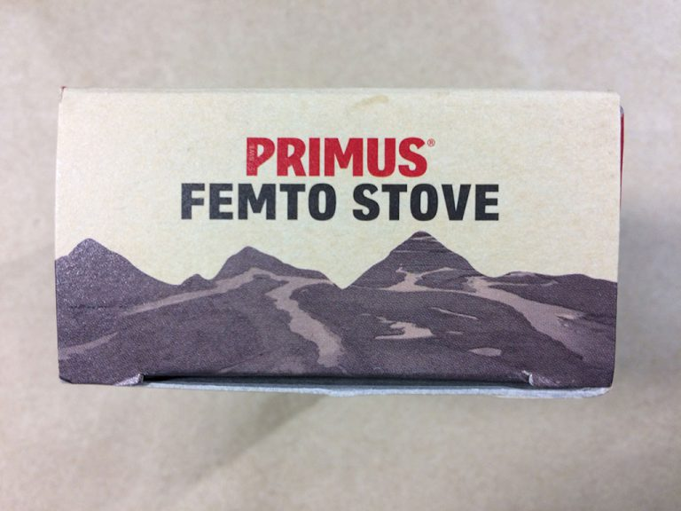 PRIMUS FEMTO STOVE P-115 バッケージ上面です
