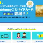 WebMoneyプリペイドカード登場 イメージ